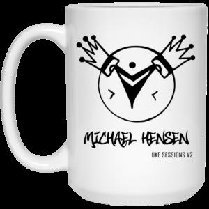 Michael Hensen HD Logo 15 oz. White Mug